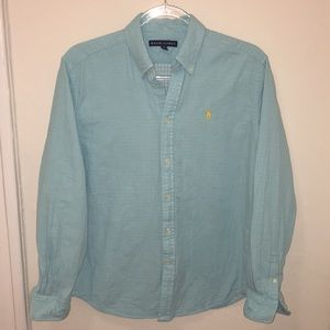 Ralph Lauren Button Down Polo Size L -Gently Worn